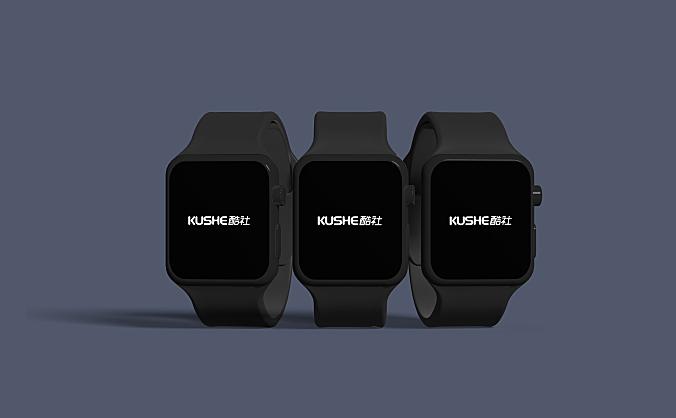 黑色Apple Watch场景设计样机智能图层PSD格式