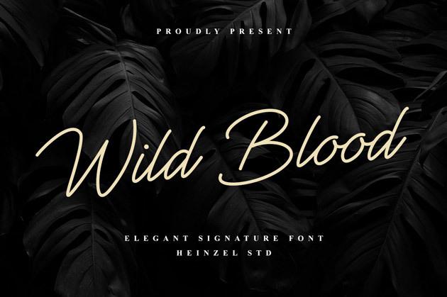 Wild Blood 字体带有现代手写风格的狂野血液脚本风格字体