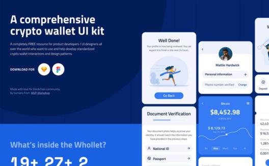 Whollet 全面的加密钱包App UI套件 Comprehensive encrypted Wallet APP