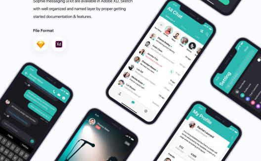 Sophie Messaging应用程序UI套件 IOSS Messaging app ui kit