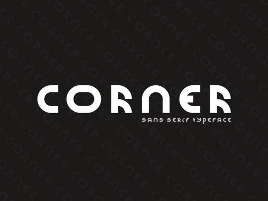 Corner 一种基于少数模块的几何无衬线免费商用字体