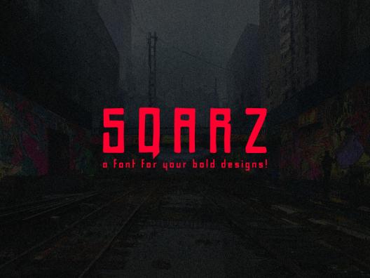 Sqarz 一款类似涂鸦的标题英文免费商用字体