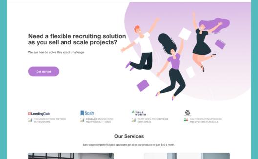 招聘机构企业网站web ui套件 recruitment agencylanding pag