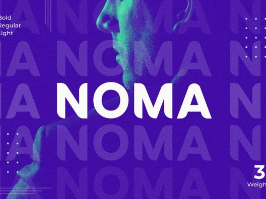 NOMA 无衬线标题海报书籍封面字体 noma-sans-serif-font