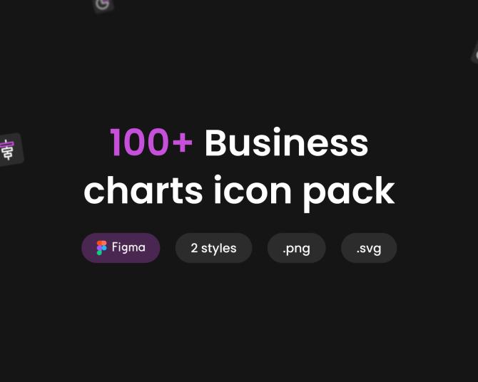 100+商业数据可视化icon图标合集 Business charts icon pack