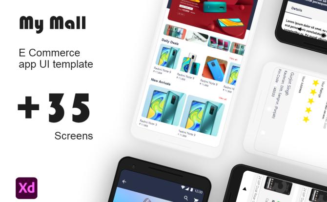 iOS系统个人商城网购电子商务应用 UI 套件 my mall