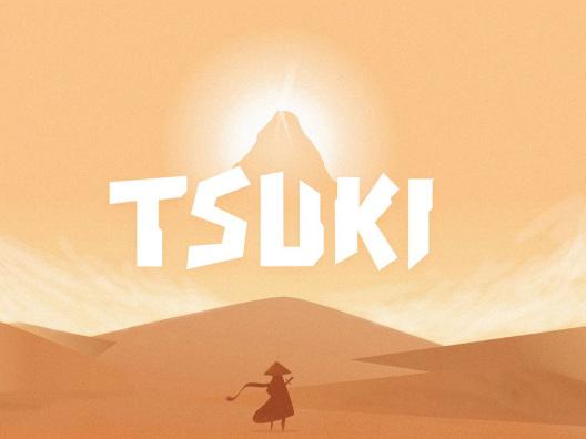 Tsuki Typeface无衬线卡通标题海报设计字体 Game English font