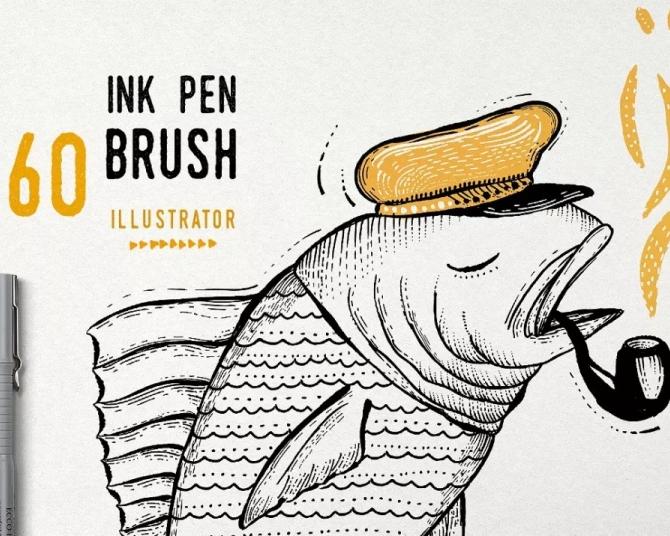 4套海外高端AI矢量笔刷让你瞬间提升插画逼格!