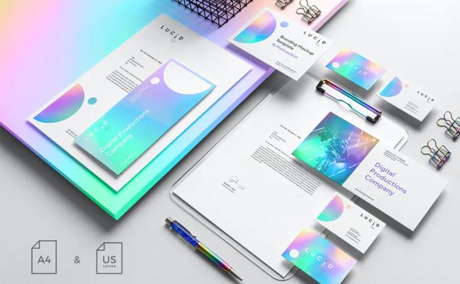 歪果设计师自用高端品牌VI设计样机资源PSD格式 Overseas brand design prototype