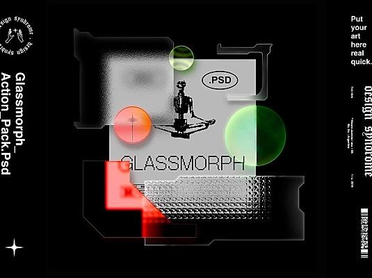 黑科技PS插件一键制作2021年炒鸡流行的磨砂玻璃风 Special effect artifact
