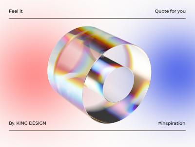 作品用上这个透明立体玻璃素材立马变的高大尚! Transparent glass material