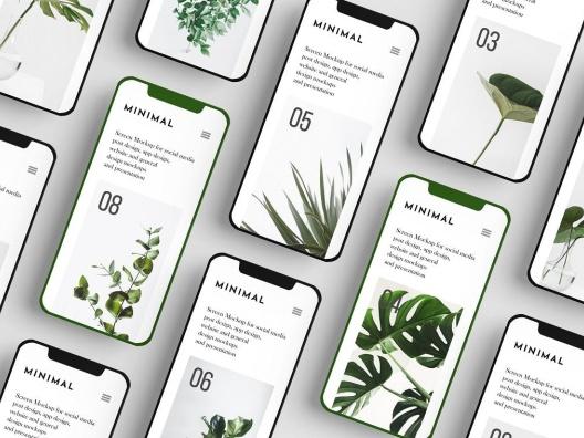 3个iPhone X系列平铺水平展示设计样机智能贴图 3 Psd Phone Screen Mockup