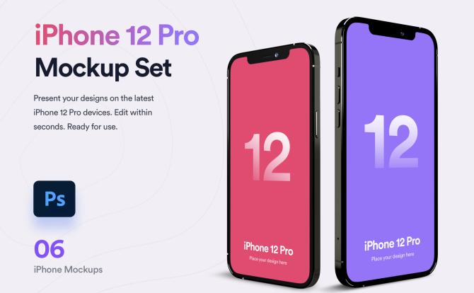 高端iPhone 12 Pro手机设备设计样机智能贴图系列 iPhone 12 Pro Mockup