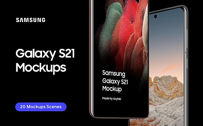 3.57GB三星手机Galaxy S21手机样机合集Samsung Galaxy S21 – 20 Mockups
