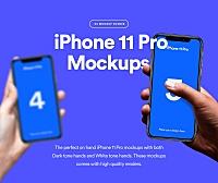 手持iPhone 11 Pro交互设计APP预览展示图设计样机 iPhone 11 Pro Mockup