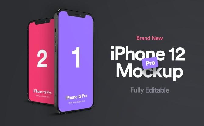 iPhone 12 Pro苹果手机设计样机套件 iPhone 12 Pro Mockup