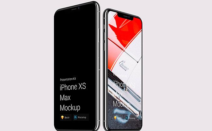 5G+收到广泛喜欢的高端iPhone Xs&Xr设计样机模板IPhone XS & XR design prototype template