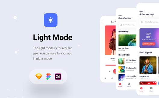 自媒体新闻资讯类iOS界面设计应用程序App UI套件 News App UI kit
