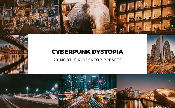 20种赛博朋克LR调色预设适合街区城市图片 20-cyberpunk-dystopia-lightroom-presets-luts