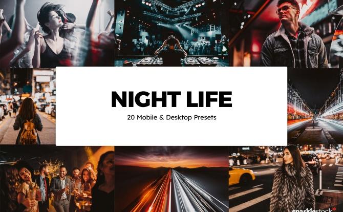 20种夜间高级质感LR调色预设文件 20-night-life-lightroom-presets-luts