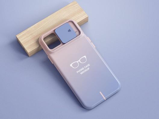 iPhone镜头滑动式手机保护壳设计样机智能贴图iphone-case-mockup