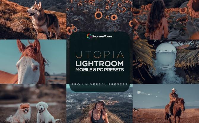 Lightroom调色预设高级黑金质感阴影照片效果utopia-lightroom-preset