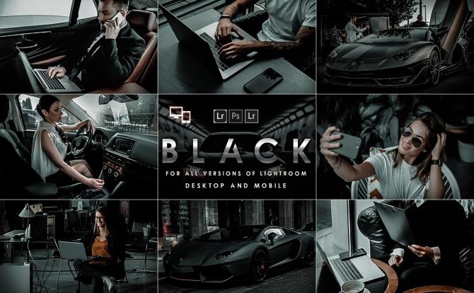通用型工业风高级暗黑色系LR调色滤镜预设black-new-york-presets-mobile-desktop