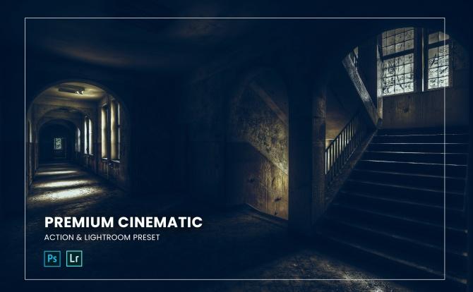 高级电影感LR软件调色滤镜预设文件premium-cinematic-action-lightroom-preset