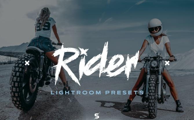 摩托车机车骑士蓝色冷色系LR软件调色滤镜预设文件 rider-lightroom-presets
