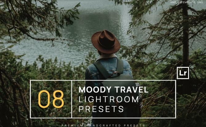 8种户外哑光电影质感LR软件调色预设文件 8-moody-travel-lightroom-presets-mobile