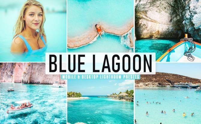 糖果色系青蓝色系照片调色Lightroom预设 blue-lagoon-mobile-desktop-lightroom-presets