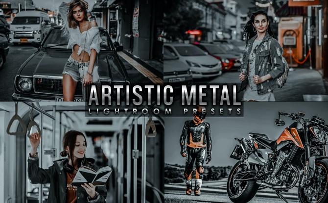 黑金金属工业风LR软件调色预设文件 artistic-metal-lightroom-presets