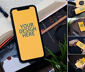 5款手持iPhone XR场景设计样机屏幕效果展示 iphone-xr-realistic-mockup
