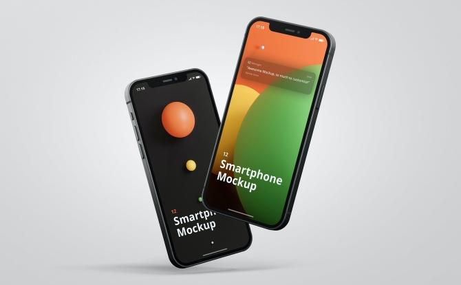 苹果iPhone 12手机设计样机智能贴图模板iPhone-12-mockup