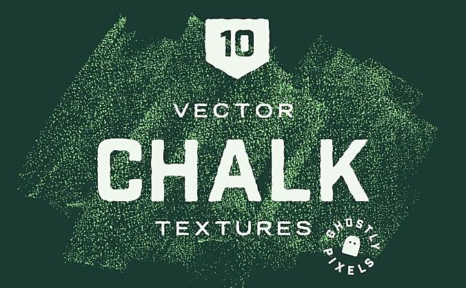 黑板粉笔纹理背景素材包 elements-chalk-textures