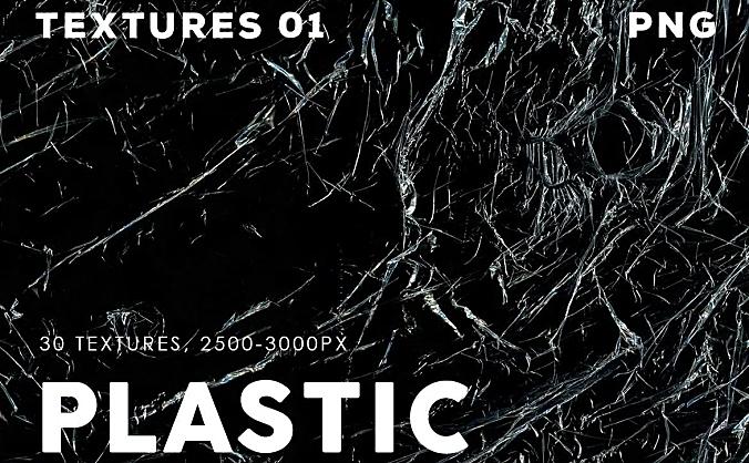 30款透明薄膜塑料叠层纹理设计素材 30-plastic-texture-overlays