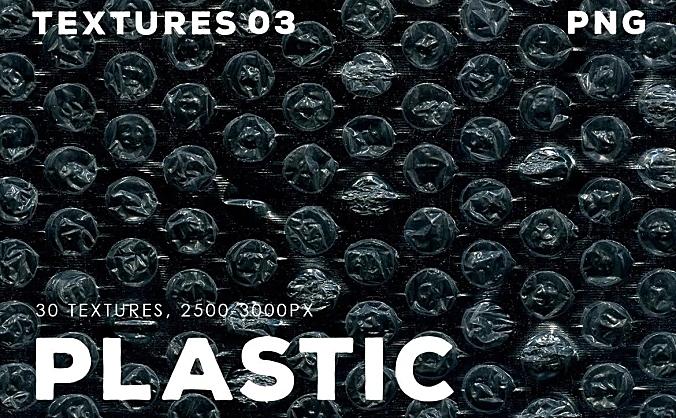 30款不同的透明薄膜塑料叠层纹理 30-plastic-texture-overlays