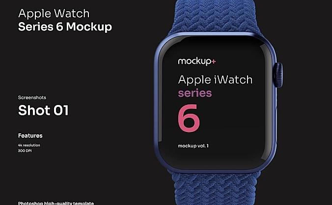 苹果智能手表Apple Watch Series 6高品质样机 Apple Watch Series 6 Mockup Vol.01