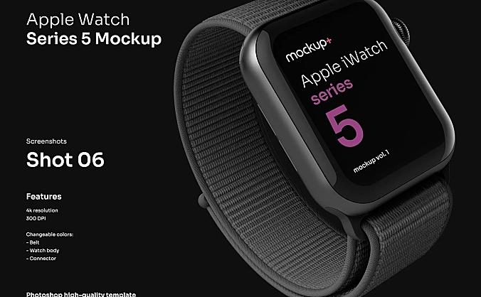 苹果智能手表Apple Watch Series 5高品质样机 Apple Watch Series 5 Mockup Vol.01