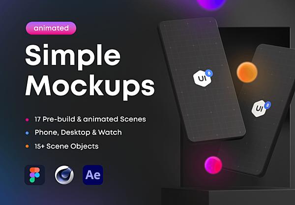 3D响应式场景设备展示设计样机合集包 Simple Mockups 2.0