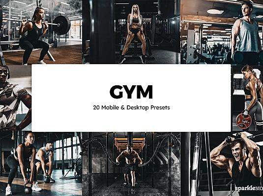 20款LR预设健身照片调色+LUT预设20-gym-lightroom-presets-luts