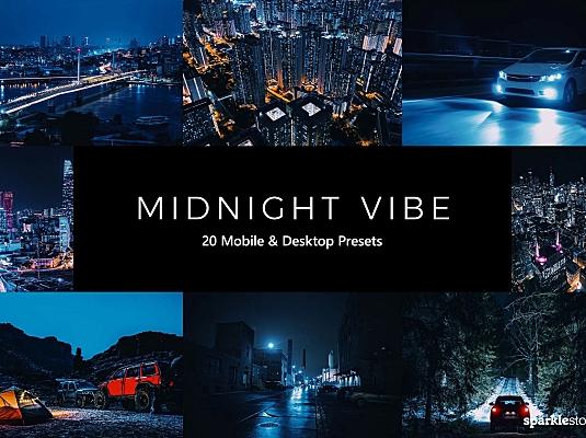 20款工业风城市夜景LR软件调色预设文件 20-midnight-vibe-lightroom-presets-luts