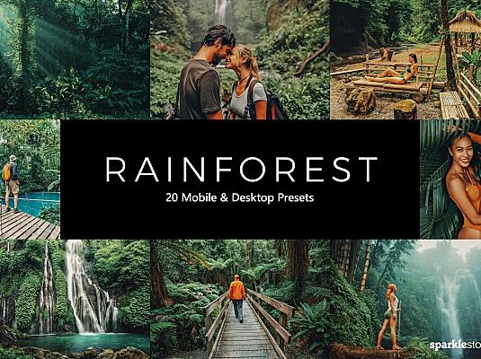 20款户外热带雨林LR软件调色预设文件 20-rainforest-lightroom-presets-luts