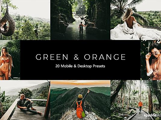 20款户外高级翡翠绿墨绿色调LR调色预设文件 20-green-and-orange-lightroom