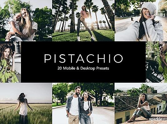 20款牛油果绿LR软件摄影后期调色滤镜预设 20-pistachio-lightroom-presets-luts