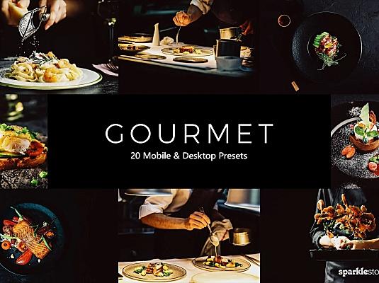 20款冷色调美食照片调色滤镜LR软件预设+LUT预设 20-gourmet-lightroom-presets-luts