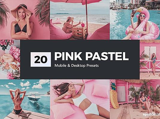 """20款浪漫""""火烈鸟""""粉红色系户外摄影LR滤镜预设 20-pink-pastel-lightroom-presets"""