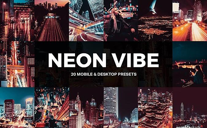 20款城市街道夜景霓虹灯效果LR软件滤镜预设文件 20-neon-vibe-lightroom-presets-and-luts