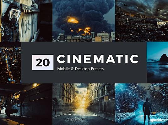 20款超强大片电影质感LR软件调色滤镜文件 20-cinematic-lightroom-presets-luts