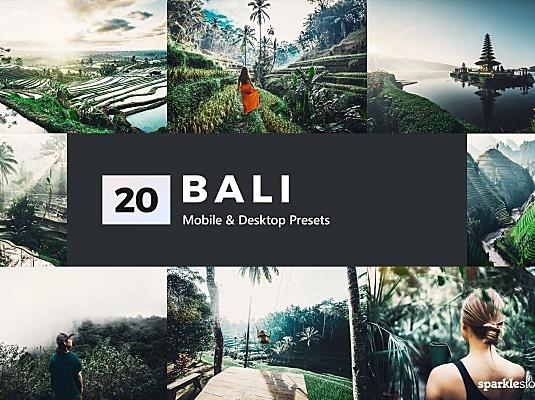 20款热带雨林海岛风景照片LR调色预设 20-bali-lightroom-presets-luts